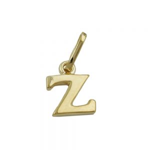 Pendentif initial z en or 9k 430875xx