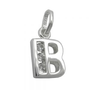 Pendentif initiale b avec argent  925 Krossin bijoux en argent 91444bxx