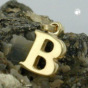 Pendentif initiale b or 9 carats Krossin bijoux or 430851x