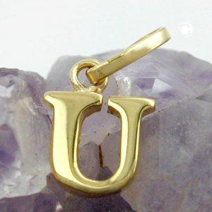 Pendentif initiale en or 9 carats Krossin bijoux or 430870x