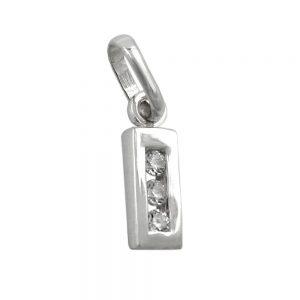 Pendentif initiale i avec argent 925 Krossin bijoux en argent 91444ixx