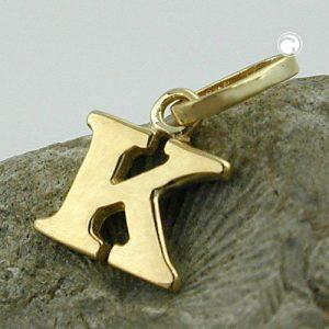 Pendentif initiale k or 9 carats Krossin bijoux or 430860x