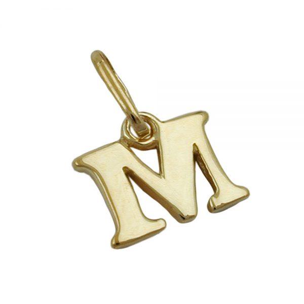 Pendentif initiale m 9k or 430862xx