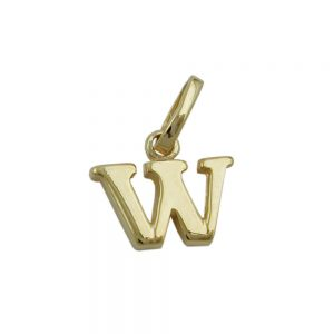 Pendentif initiale w or 9k 430872xx