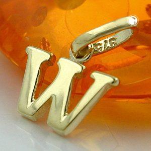 Pendentif initiale w or 9k Krossin bijoux or 430872x
