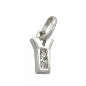 Pendentif initiale y avec argent 925 Krossin bijoux en argent 91444yxx