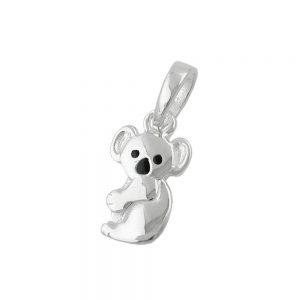 Pendentif koala noir argent 925 Krossin bijoux en argent 90690xx