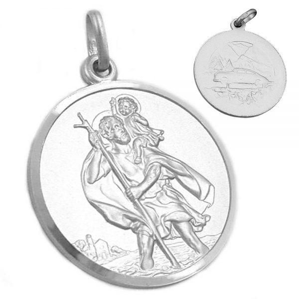 Pendentif medaille saint Christophe 925 Krossin bijoux en argent 92129xx