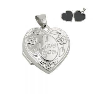 Pendentif medaillon   je taime   argent 925 Krossin bijoux en argent 93699xx