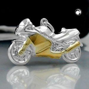 Pendentif moto argent 925 Krossin bijoux en argent 93191x