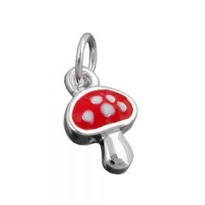 Pendentif mouche agaric rouge argent 925 Krossin bijoux en argent 90464xx
