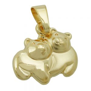 Pendentif ours or brillant 9 carats 431267xx