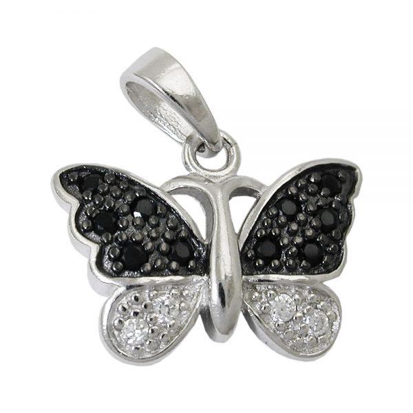 Pendentif papillon Zircon argent 925 Krossin bijoux en argent 93455xx