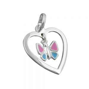 Pendentif papillon coeur argent 925 Krossin bijoux en argent 91392xx