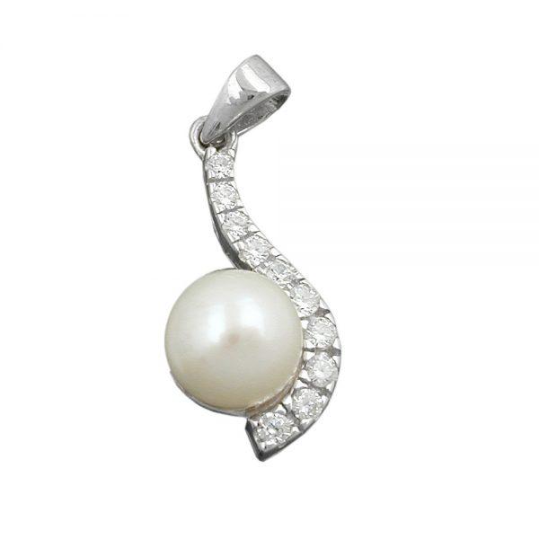 Pendentif perle avec Zircon argent 925 Krossin bijoux en argent 91569xx