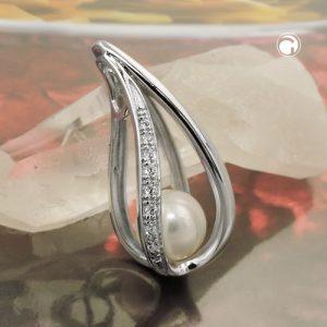 Pendentif perle avec Zircon argent 925 Krossin bijoux en argent 93781x