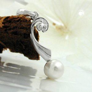 Pendentif perle et Zircon argent 925 Krossin bijoux en argent 94023x