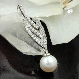 Pendentif perle et zircons argent 925 Krossin bijoux en argent 94006x
