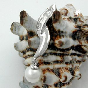 Pendentif perle et zircons argent 925 Krossin bijoux en argent 94009x