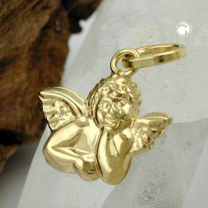 Pendentif petit ange en or 9 carats Krossin bijoux or 431165x