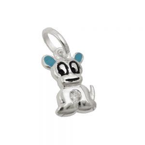 Pendentif petit chien Zircon argent 925 Krossin bijoux en argent 93639xx