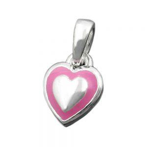 Pendentif petit coeur rose argent 925 Krossin bijoux en argent 93343xx