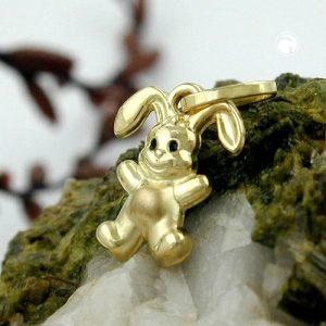 Pendentif petit lapin en or 9 carats Krossin bijoux or 430037x