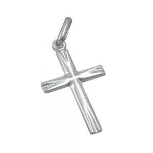 Pendentif petite croix argent brillant design 925 Krossin bijoux en argent 90442xx