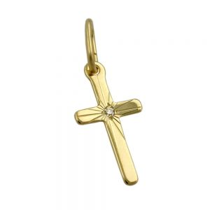 Pendentif petite croix en or 8k 431491xx