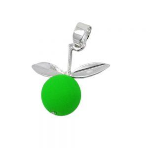 Pendentif pomme citron vert argent 925 Krossin bijoux en argent 93548xx