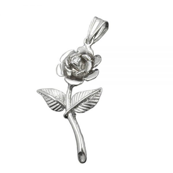 Pendentif rose Zircon argent 925 Krossin bijoux en argent 93374xx