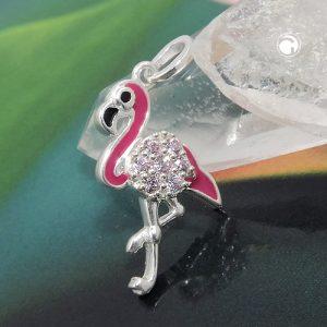 Pendentif rose flamant argente 925 Krossin bijoux en argent 93794x
