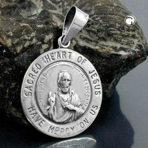Pendentif sacre coeur argent 925 Krossin bijoux en argent 92901x