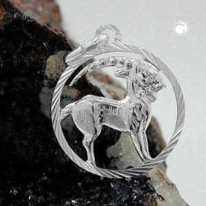 Pendentif signe du zodiaque capricorne argent 925 Krossin bijoux en argent 91001x