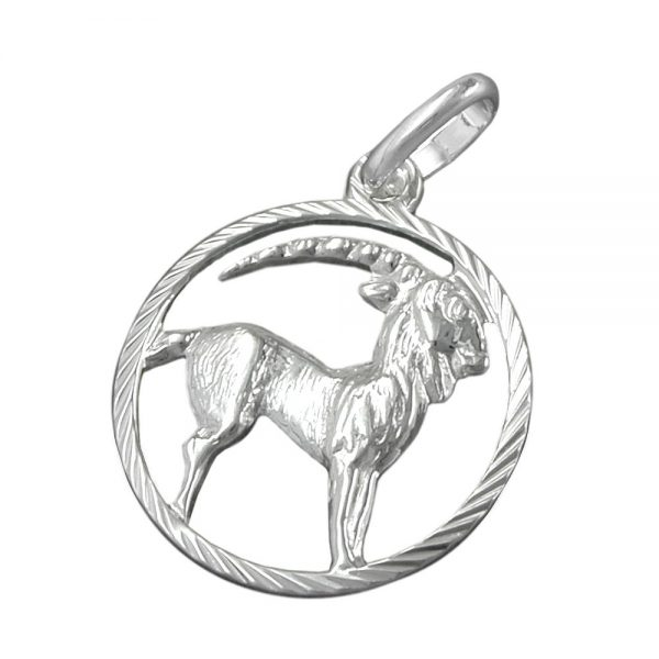 Pendentif signe du zodiaque capricorne argent 925 Krossin bijoux en argent 91001xx