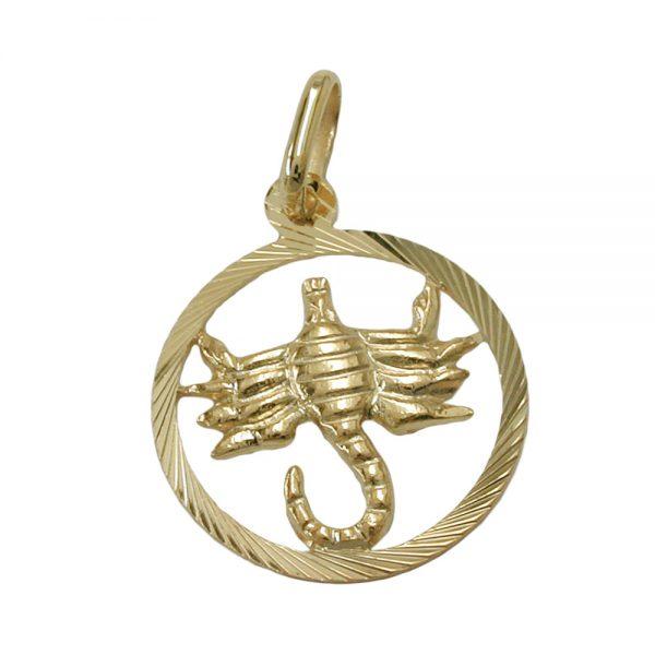 Pendentif signe du zodiaque scorpion 9k or 430454xx