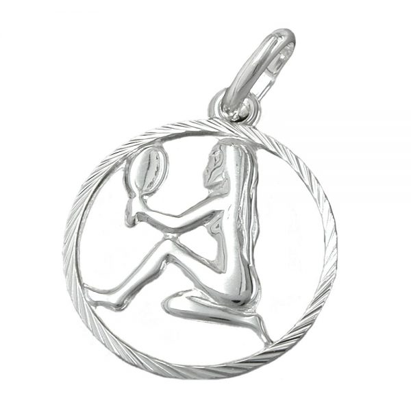 Pendentif signe du zodiaque vierge argent 925 Krossin bijoux en argent 91009xx