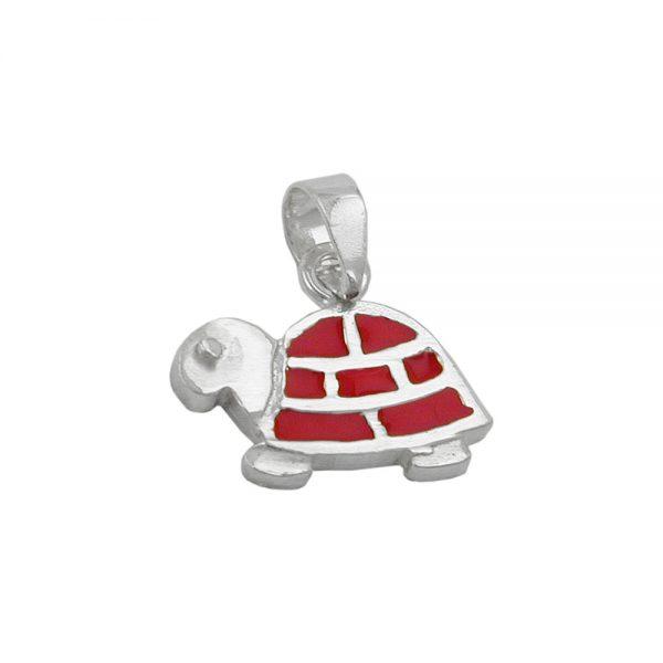 Pendentif tortue rouge argent 925 Krossin bijoux en argent 92242xx