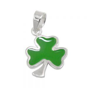 Pendentif trefle vert argent 925 Krossin bijoux en argent 93581xx