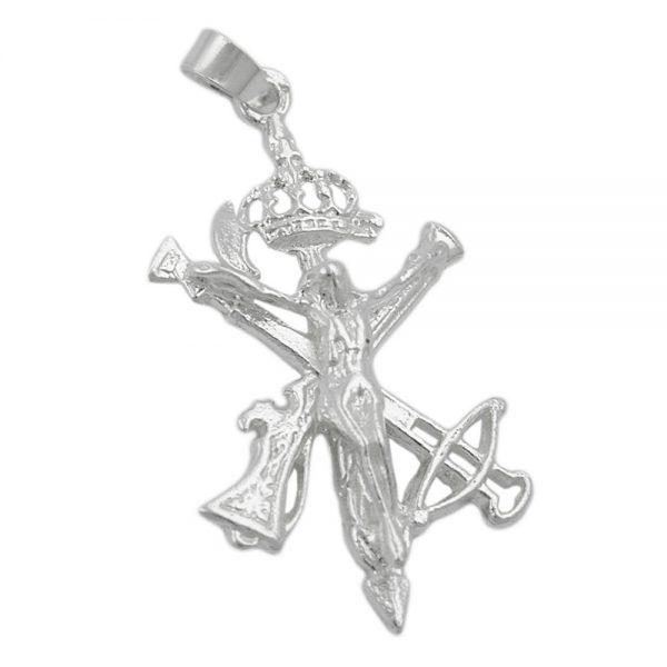 Pendentif unique croix argent 925 Krossin bijoux en argent 92258xx