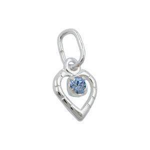 Pendentif verre pierre bleu argent 925 Krossin bijoux en argent 90615xx