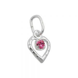 Pendentif verre pierre rose argent 925 Krossin bijoux en argent 90616xx
