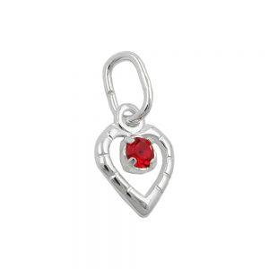 Pendentif verre pierre rouge argent 925 Krossin bijoux en argent 90613xx
