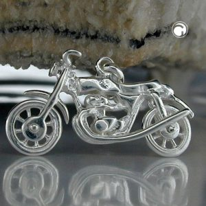 Pendentif vieille moto argent 925 Krossin bijoux en argent 92362x