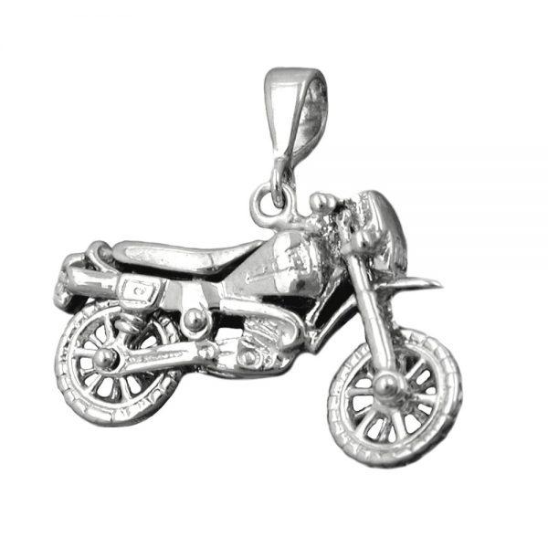 Pendentif vieille moto argent 925 Krossin bijoux en argent 93377xx
