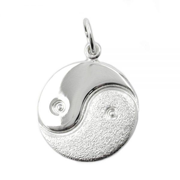 Pendentif yin yang argent 925 Krossin bijoux en argent 90185xx