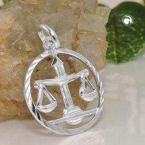 Pendentif zodiaque Balance argent 925 Krossin bijoux en argent 91010x