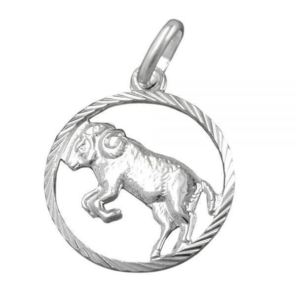 Pendentif zodiaque belier argent 925 Krossin bijoux en argent 91004xx