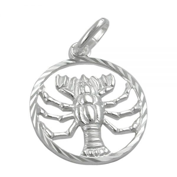 Pendentif zodiaque cancer argent 925 Krossin bijoux en argent 91007xx