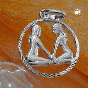 Pendentif zodiaque gemeaux argent 925 Krossin bijoux en argent 91006x